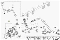 Dokumentace dle VIN ukazuje snímač nízkého tlaku, na voze však není
