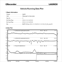První testy odjel sám zákazník s datarekordérem CRecorder Launch II